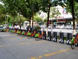阿克苏市公共自行车太百站点正式投入使用
